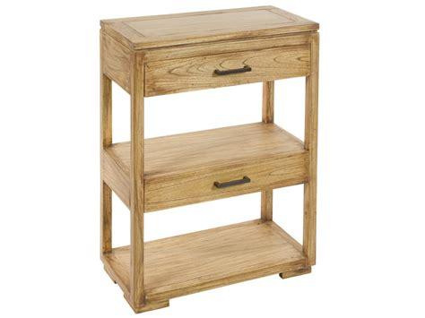 mueble natural mueble estrecho de madera natural con cajones y estantes
