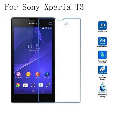 Sale Tempered Glass Ion Sony Xperia T3 tempered glass for sony xperia t3 t 3 arc edge 0 3mm 2 5d border explosion proof screen