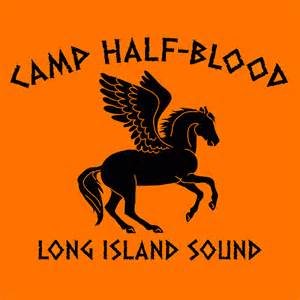 Camp half blood t shirt percy jackson textual tees