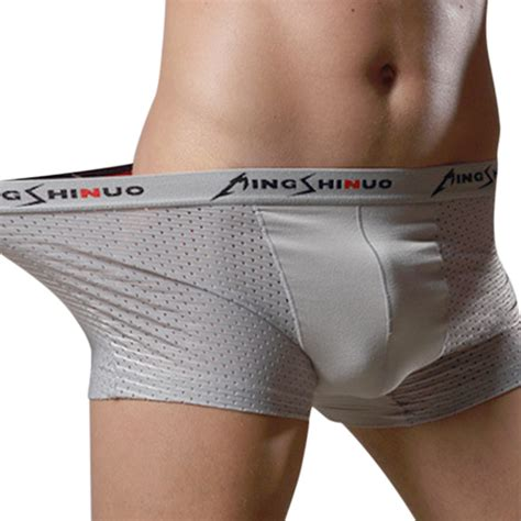 boxers for mesh breathable silk soft cool comfortable u convex