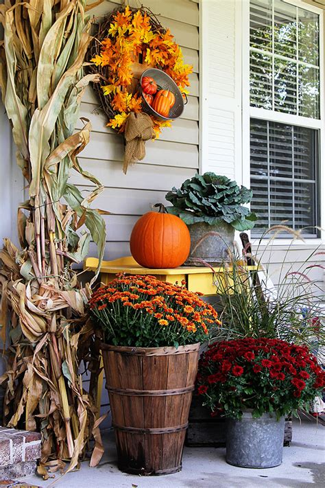 Fall Decorations For The Home Fall Porch Decor Farmhouse Style House Of Hawthornes
