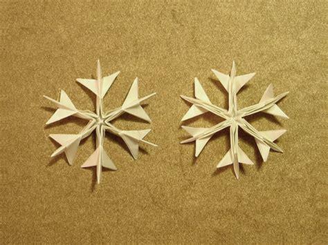 Simple Origami Snowflake - ikuzo origami