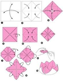Fleur Origami - origami facile fleur