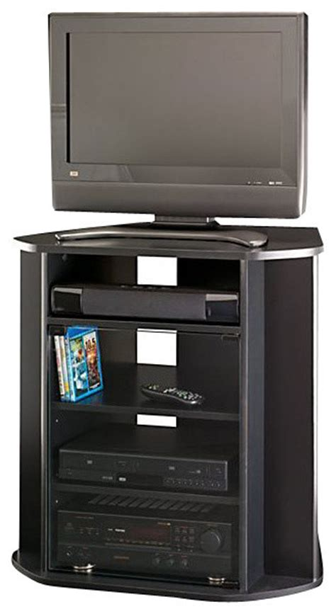 bush tall corner tv stand black finish view