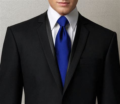 Tshirt Pria Oasis New by Black Suit With Royal Blue Tie Oasis Fashion