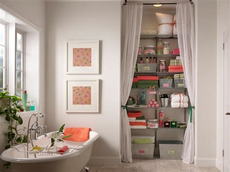 creative bathroom storage ideas use curtains to conceal storage this bathroom s storage