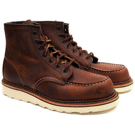 Wing Boots Leather Original wing heritage moc toe boots 1907 wing originals