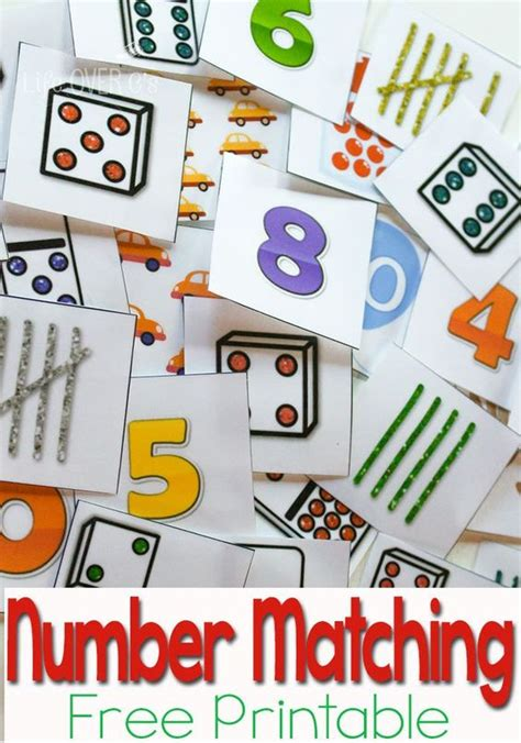 free number recognition printable pinterest number