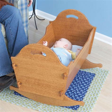 heirloom cradle with storage box woodworking plan from wood magazine