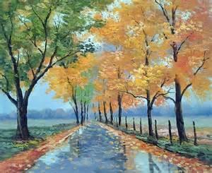 Landscape Artwork Canvas Beautiful Landscape Painting On Canvas Modern