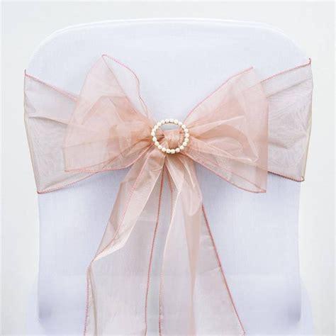 blush pink chair sashes blush organza chair sash efavormart