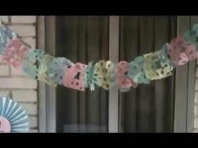 como hacer decoraciones con papel c 243 mo hacer guirnaldas de papel facilisimo com youtube