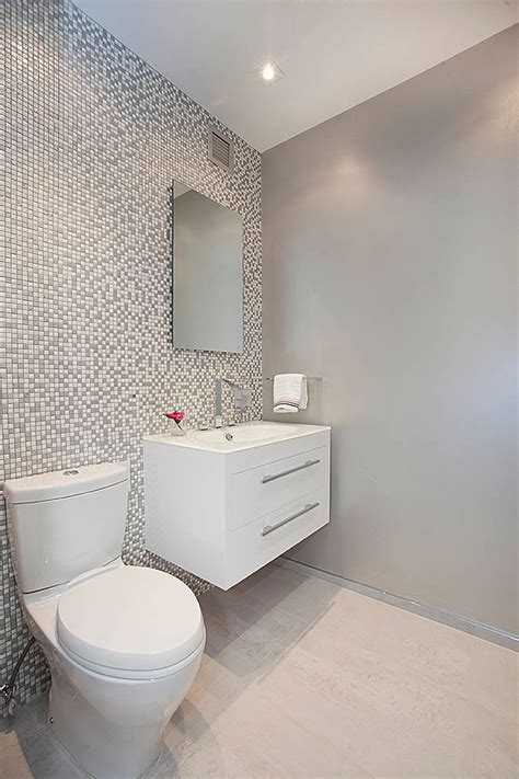 Toto toilets powder room contemporary with recessed lighting floating vanity