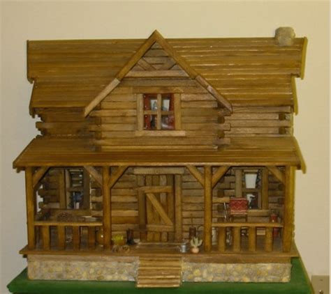 log cabin doll house log cabin dollhouse doll houses pinterest