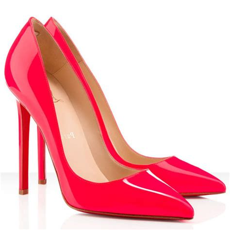christian louboutin pigalle 120mm pumps fluo pink