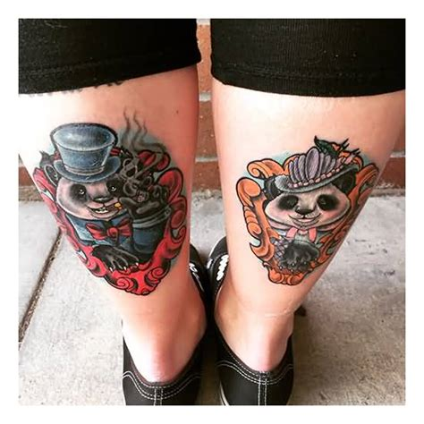 panda tattoo on thigh 13 panda love tattoos ideas