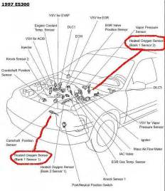 Lexus Locations 99 Es300 O2 Sensor Or Air Fuel Ratio Sensor Clublexus