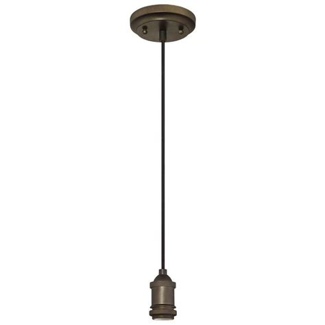Pendant Light Bronze Westinghouse 1 Light Rubbed Bronze Adjustable Vintage Mini Pendant 6103200 The Home Depot