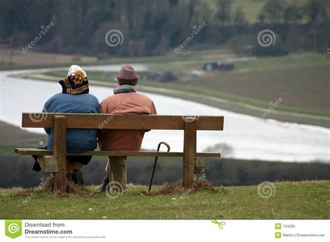 bench couple watch getting old royalty free stock photo image 104285