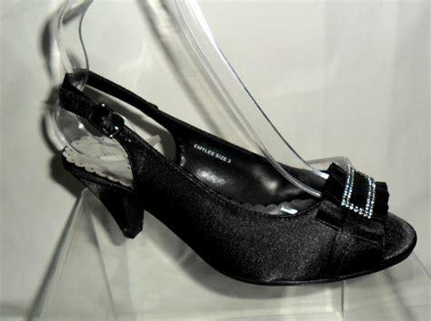 black satin wide fit comfort evening shoes 5 6 ebay