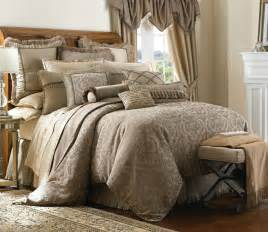 Gold Comforter Sets Queen Hazeldene By Waterford Luxury Bedding Beddingsuperstore Com
