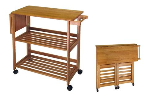 folding kitchen island work table 10 small kitchen islands for your tiny kitchen freshome