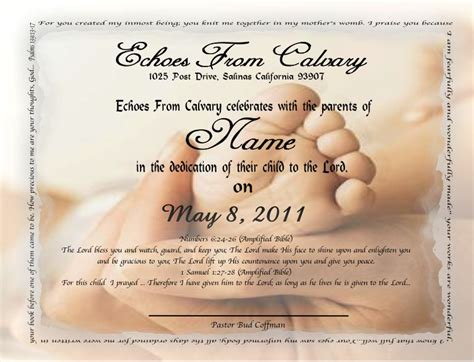 baby dedication printable certificates for baby milestones