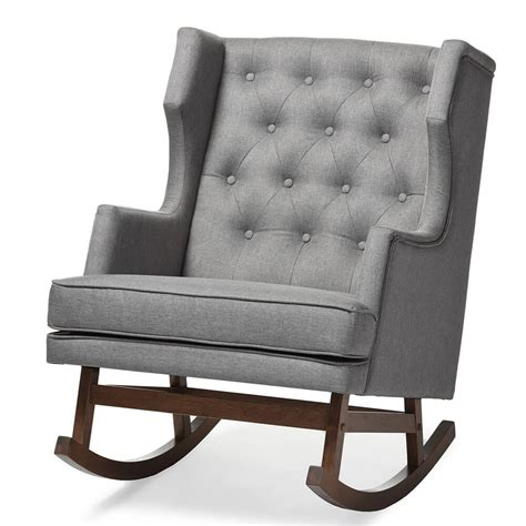 Wingback Rocking Chair by Tufted Wingback Rocking Chair Modern Furniture