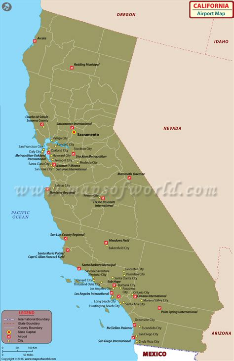map of usa airports airports in california list of airports in california