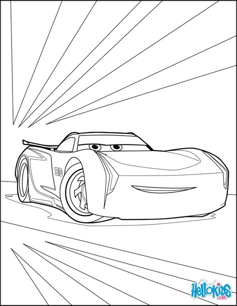 Coloring Page Cars 3 by Cars 3 Jackson Coloring Pages Hellokids