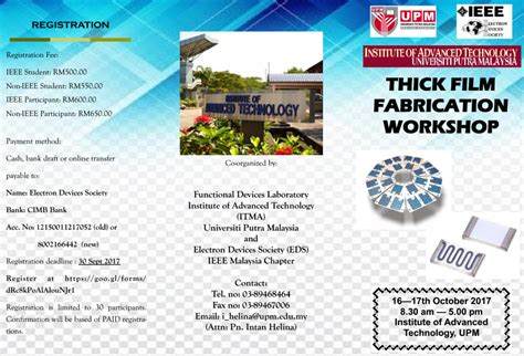 Film Workshop Malaysia | thick film workshop by ieee eds malaysia chapter itma