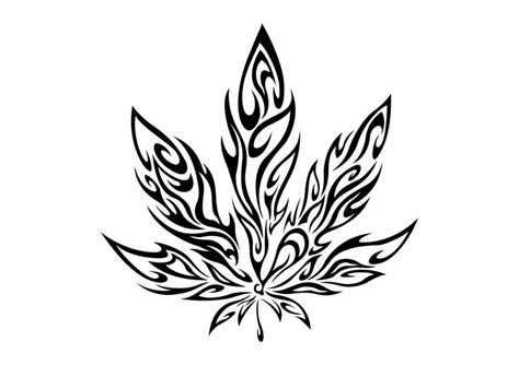 tribal pot leaf tattoo tribal pot leaf hemp