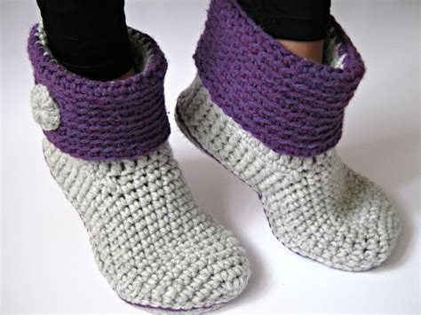 crochet ankle boots crochet s ankle slipper boots with eco leather