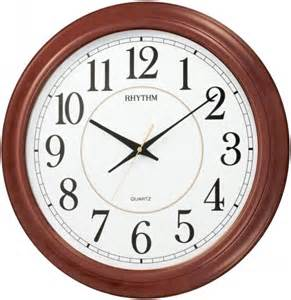 wooden wall clock rhythm 22in admiral wooden wall clock