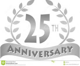 Logo for a 25th or silver anniversary of a marriage or business eps