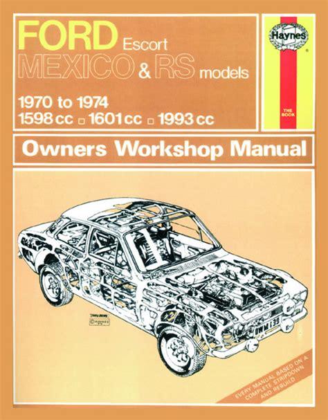 online car repair manuals free 1984 ford escort regenerative braking haynes manual ford escort mk1 mexico rs 1600 rs 2000 70 74