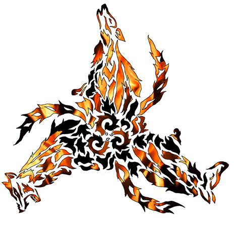 tattoo design fire triskellion wolf pok 233 charms