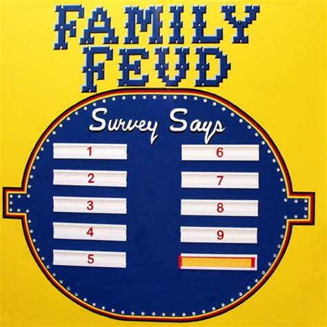 theme to family feud homemade family feud board google search christmas