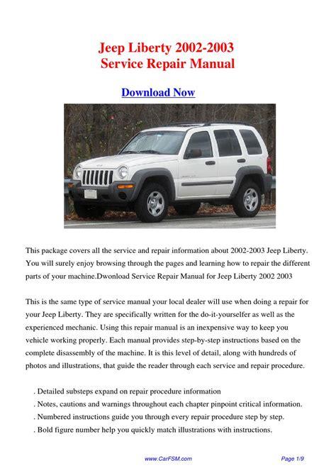 2003 Jeep Liberty Owners Manual Jeep Liberty 2002 2003 Repair Manual By Gong Dang Issuu