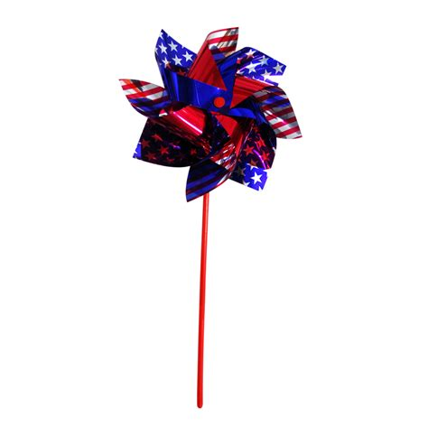 Shop independence flag red blue and silver plastic wind spinner at lowes com