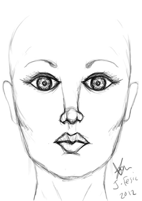 pattern on how to sketch face female face drawing practice by jezzy fezzy on deviantart