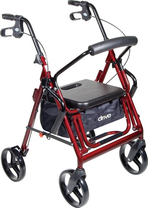 walker with bench seat duet transport wheelchair rollator walker drive medical