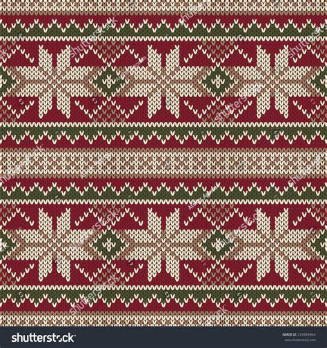 christmas knit wallpaper christmas sweater design seamless knitting pattern stock