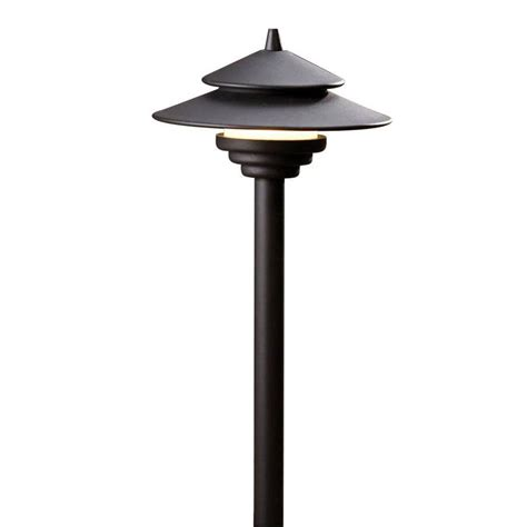 Lowes Landscape Lights Shop Allen Roth Black Low Voltage Led Path Light At Lowes