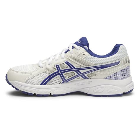 boys white athletic shoes asics gel contend 3 gs boys running shoes white