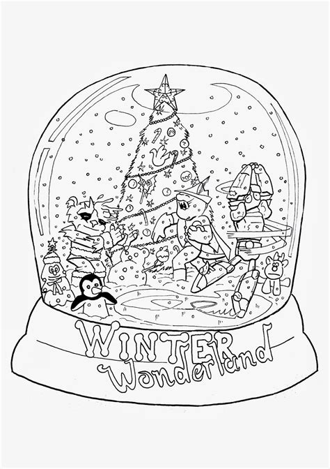 snow globe coloring page free coloring pages of snow globes