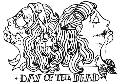 day of the dead cat coloring pages day of the dead coloring pages cats coloring pages