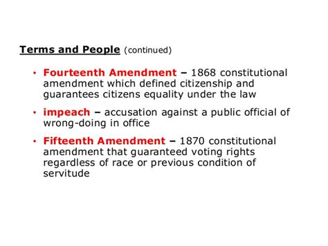 14th amendment section 5 chapter 5 section 1 notes