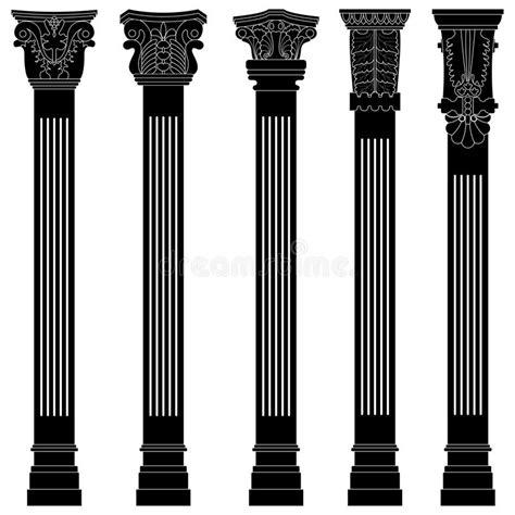 pillar the column supporting the arch for the home pillar column antique ancient old roman greek arch stock