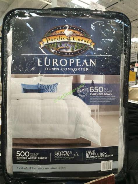 costco down comforter costco 1988992 pacific coast feather pyrenees down